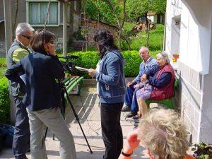 Un momento delle riprese per il film documentario La Stava dei Balcani.