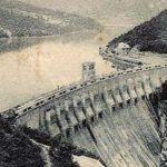 La Diga Principale di Molare in una cartolina d'epoca
