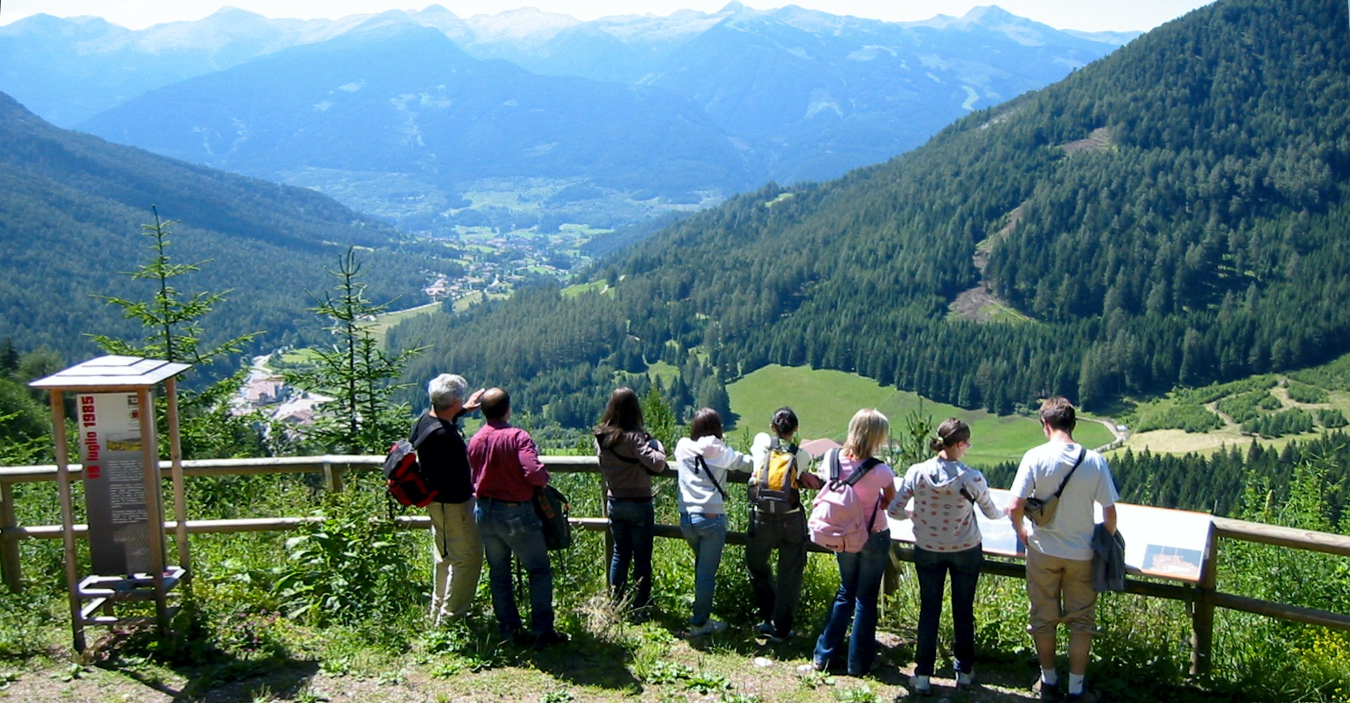 Il punto panoramico a quota 1500 m. sul Sentiero Stava 1985