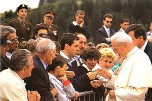 His Holiness Pope John Paul II meets the relatives of the victims - 17th July 1988.